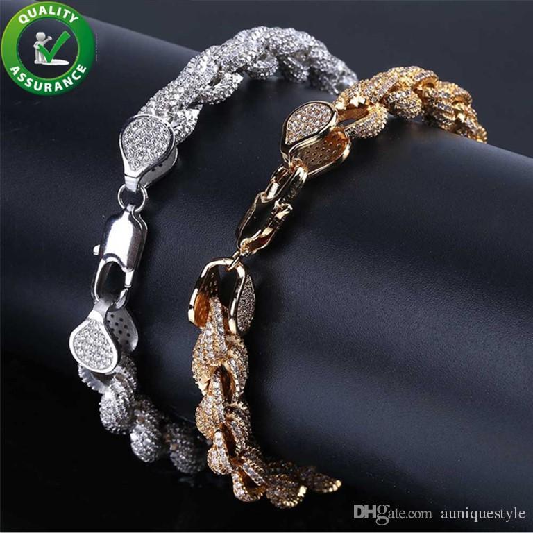 c7cc14da3c9d Compre Pulseras De Oro Para Hombre Joyas De Hip Hop Pulsera De Diamantes  Para El Amor Para El Amor Brazaletes De Diseño De Lujo Encantos De Estilo  De ...