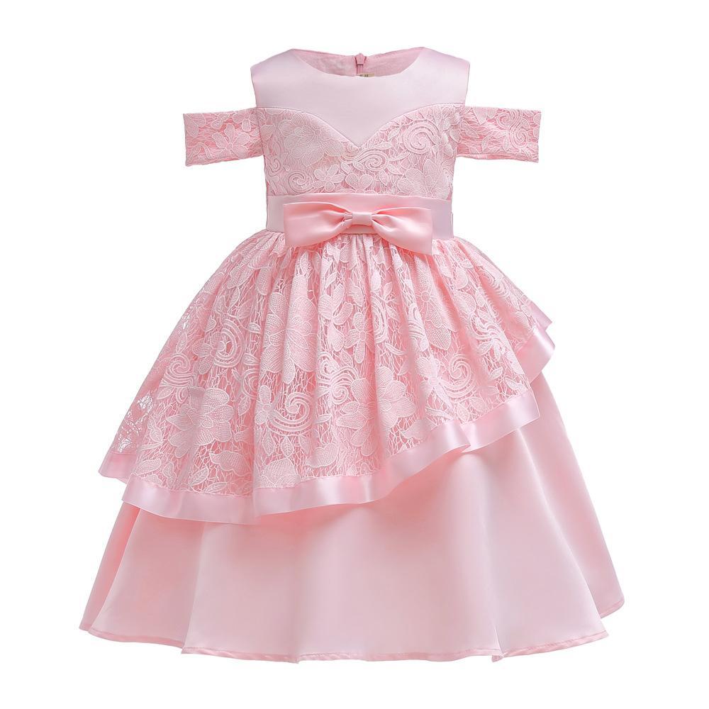 5186eb75b40737 Acquista Abbigliamento Bambini Rosa Abiti Natale Ragazza Bambini Vestito Da  Principessa Vestito Da Festa Di Compleanno Bambini Vestiti A Righe A $20.1  Dal ...