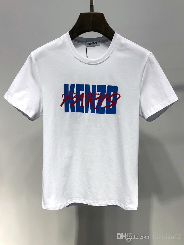 f736f610fe44a tee shirt grande marque Acheter 2019ss Marque De Luxe Logo T Shirt Homme  Blanc ...