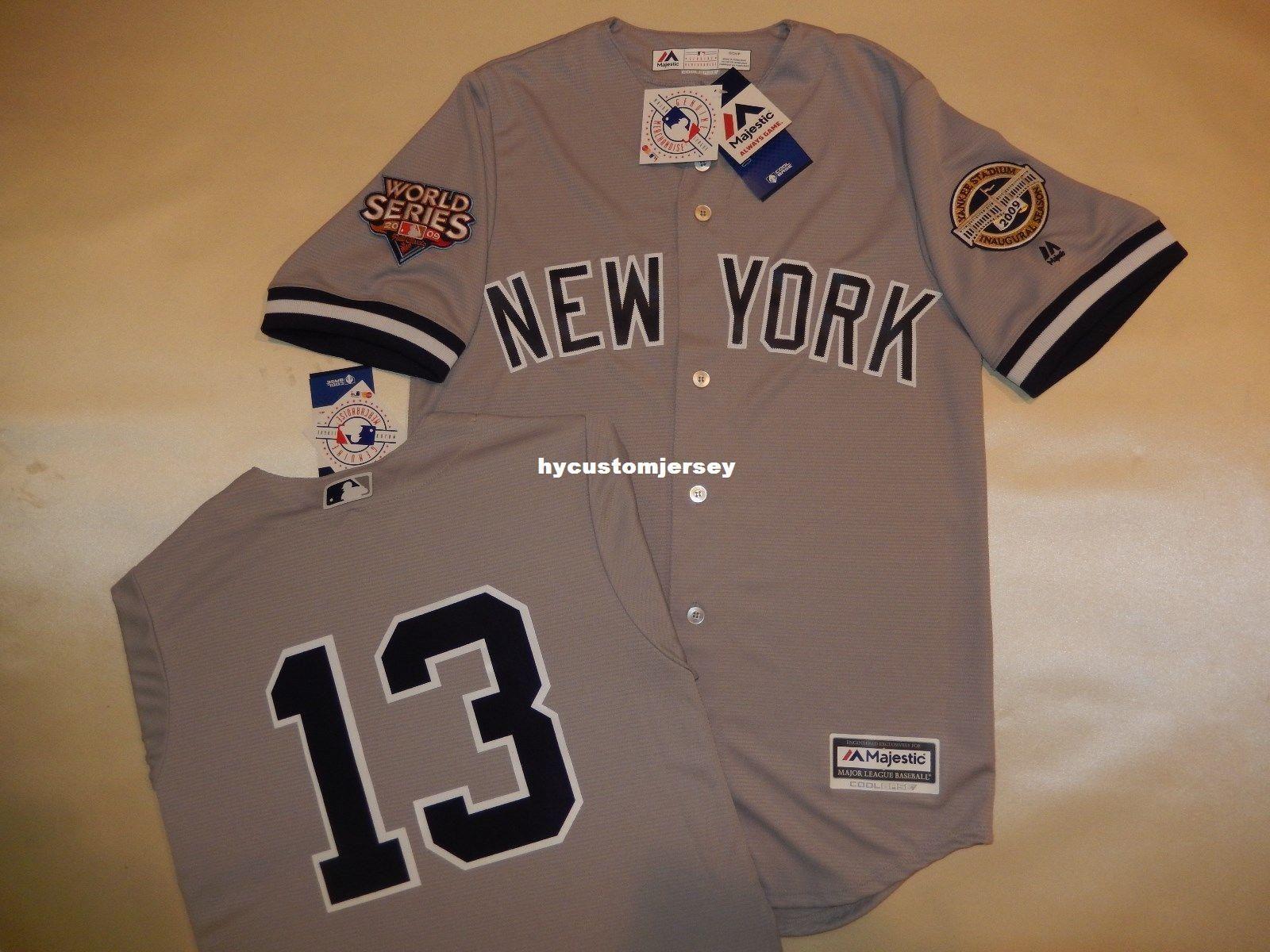 newest 821c8 aca45 Cheap custom New York 13# ALEX RODRIGUEZ 2009 WORLD SERIES Baseball Jersey  GRAY New Mens stitched jerseys Big And Tall SIZE XS-6XL For sale