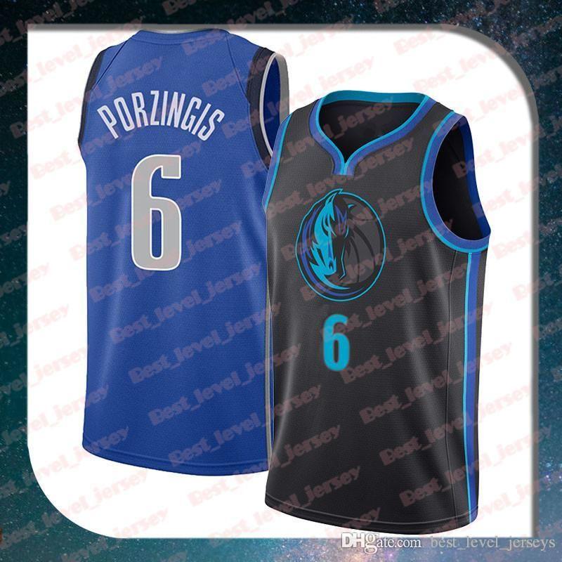 new product b78e6 14fd4 stitched #6 Porzingis jersey Dallas jersey Mavericks Luka jerseys Doncic  #77 Kristaps Dirk 41 Nowitzki jerseys
