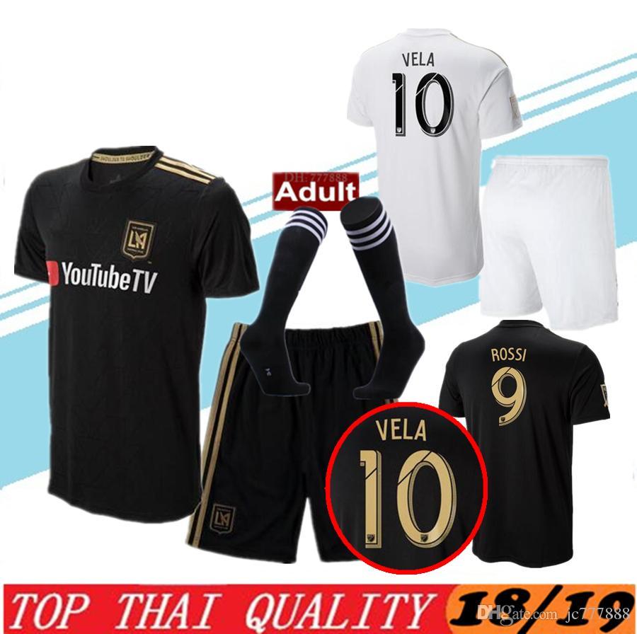 new product 36433 f83b0 men kit LAFC Carlos Vela Soccer Jerseys 2018 2019 Home GABER ROSSI CIMAN  ZIMMERMAN away TOP Quality Football Shirt Los Angeles