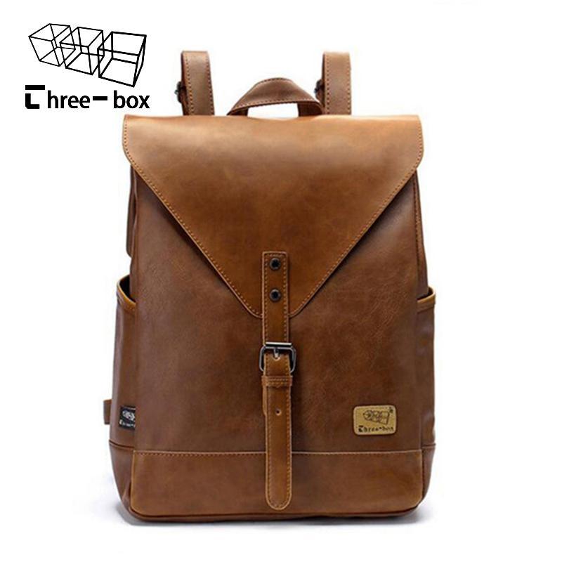 a56c5806fe2 Women Fashion Backpack Male Travel Backpack Mochilas School Mens Leather  Business Bag Large Laptop Shopping Travel Bag Black Leather Backpack  Backpacks For ...
