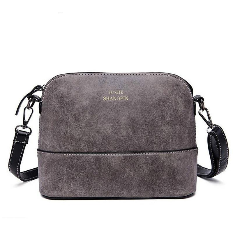 Wholesale- Sale Womens Handbag Vintage Bag Shoulder Bags Shell Bag Nubuck Leather Small Crossbody Bags For Women Messenger Handbags