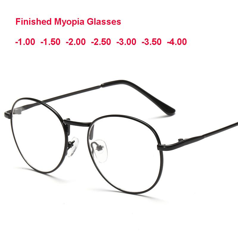 413042d92 2019 Stylish Nearsighted Shortsighted Myopia Glasses 1.0 To 4.0 Round Clear  Lens Glasses Circle Metal Frame From Fotiaoqia, $37.59 | DHgate.Com