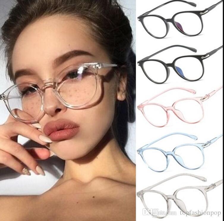 Fashion Women Glasses Frame Men Eyeglasses Frame Vintage Clear Lens Glasses Anti-radiation Frame Glasses Female Eyeglasses Women's Glasses Apparel Accessories