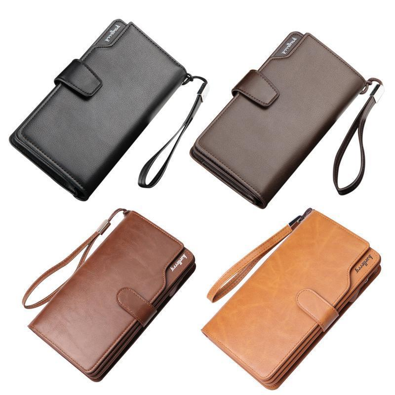 f7b2781d3338 Men Fashion Pu Office Wallet Long Multi Function Clutch Bag Mobile Phone  Bags Change Wallets For Male Business Standard Wallets Leather Accessories  Womens ...