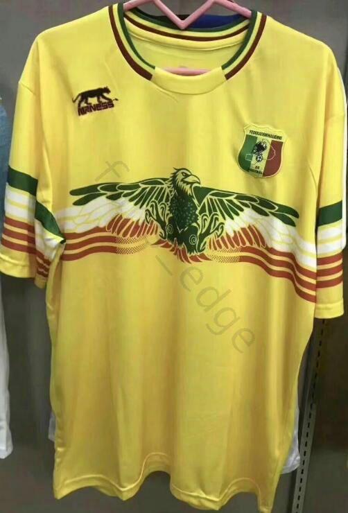b9e3842de 2019 2020 Mali Home Camiseta De Fútbol Amarilla Concepto Camiseta De Fútbol  Les Aigles Du Mali Can 2018 2019 Maillot Domicile Por Fans edge
