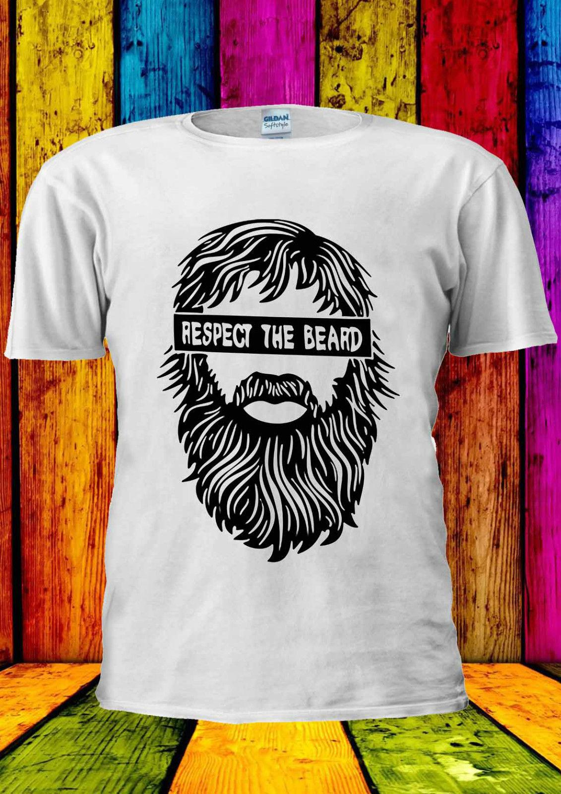 Respect The Beard Moustache Tumblr T-shirt Vest Tank Top Men Women Unisex 1754 Summer Men'S fashion Tee,Comfortable t shirt,