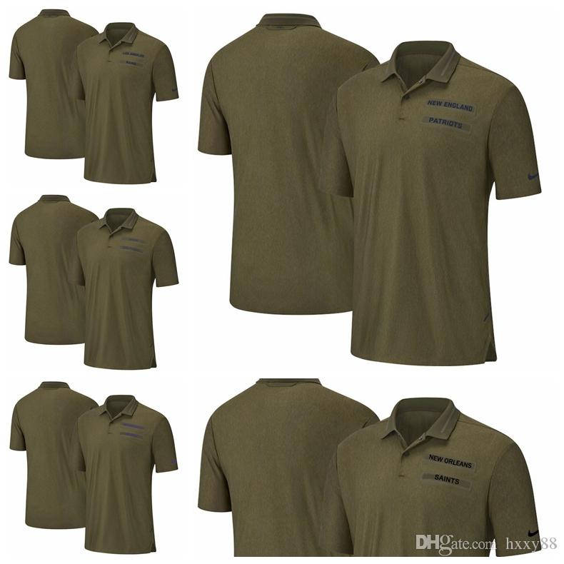 save off 982ed 1294d Los Angeles Rams Miami Dolphins Minnesota Vikings New Patriots New Orleans  Saints Salute to Service Sideline Polo