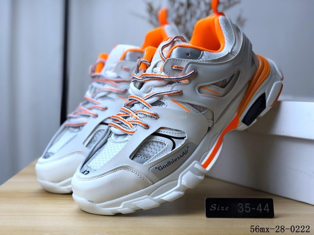 109c16eb1cdb 2019 2019 New Speed Trainer Mens White Orange Black Running Shoes Triple S  3.0 GodBlessAir Boots Women Sneakers Sports Shoe Size 35 44 From Esoccer