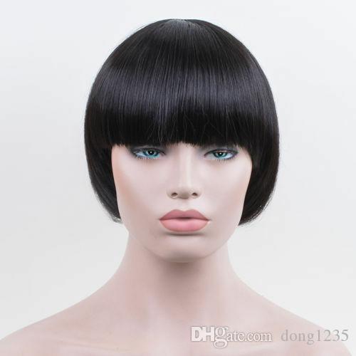 Bowl Cut Extreme Bob Frisur Pilzkopf Schwarze Perucke Mode Frauen Madchen Perucken Kostenloser Versand