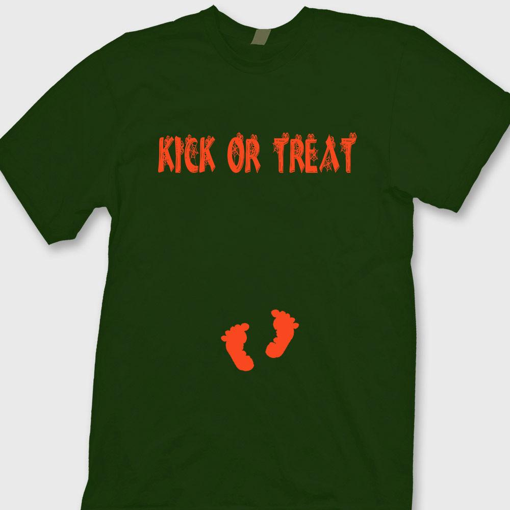 Halloween Pregnancy T Shirt.Kick Or Treat Halloween Pregnancy Baby Funny T Shirt Maternity Tee Shirtfunny Free Shipping Unisex Casual Tshirt Top