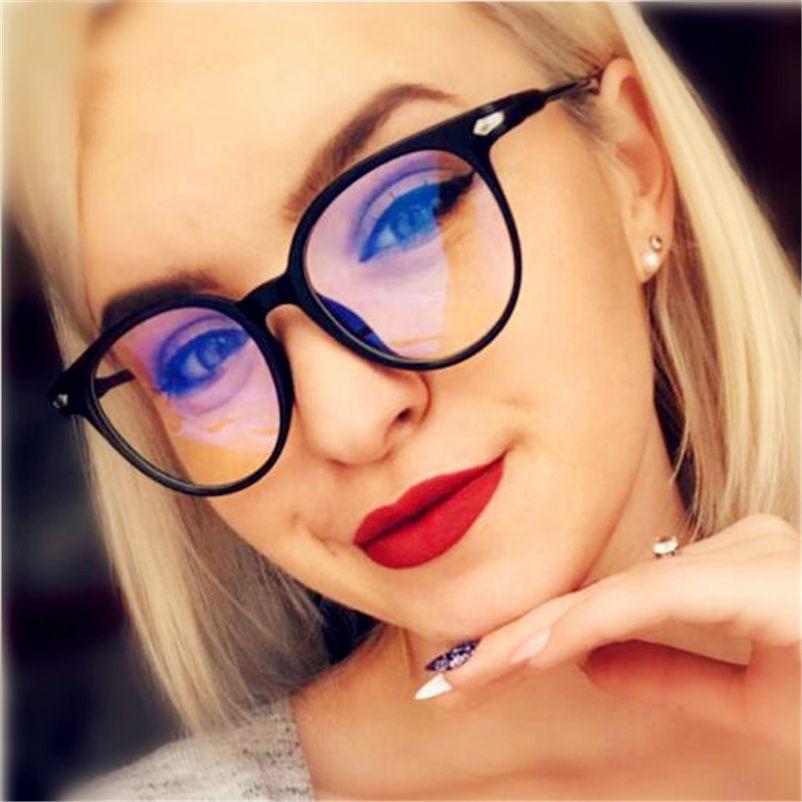 5ab1ac96253 2019 Women Glasses Frame Men Anti Blue Light Eyeglasses Frame Vintage Round  Clear Lens Glasses Optical Spectacle Tifosi Sunglasses Cheap Eyeglasses  Online ...