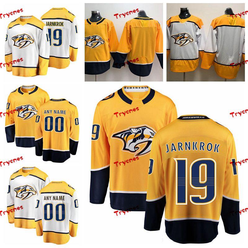 official photos a6823 f2481 2019 Customize Calle Jarnkrok Nashville Predators Stitched Jerseys Custom  Home Gold Shirts #19 Calle Jarnkrok Hockey Jerseys S-XXXL