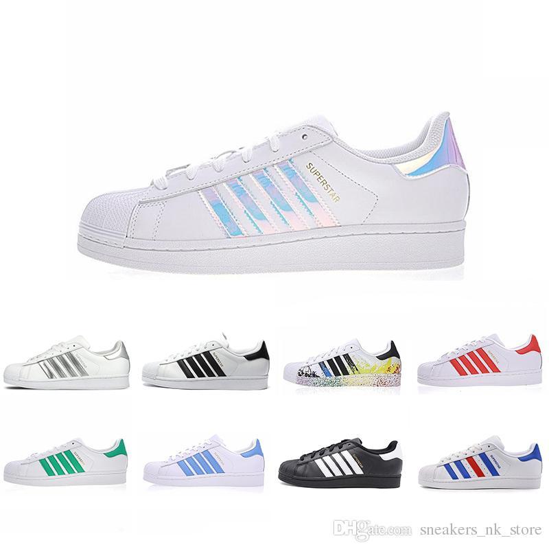 267463324d37ee Cheaper New Super Star Running Shoes White Hologram Iridescent ...