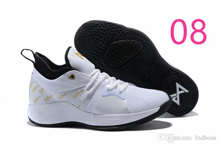f593ff3514c3 Cheap New Sale Paul George 2 PG II Basketball Shoes Top PG2 2S Starry Blue  Orange All White Black Sports Sneakers Size 40-46 LZDBOSS
