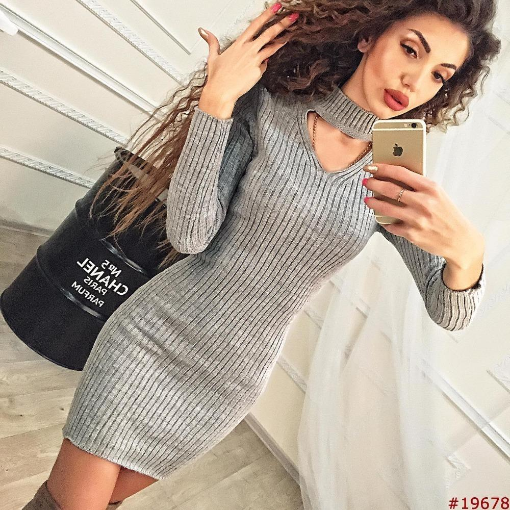 2019 Women Clothes 2018 Autumn Long Sleeve Bodycon Casual Dress Fall Winter  Slimming Solid Color Elegant Temperament Quality Dresses Y190117 From  Shenyan01 5327dac578bc