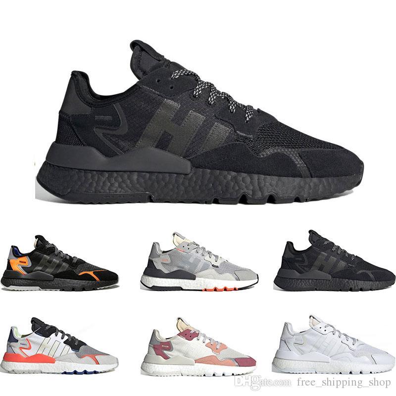 newest c7267 7c148 Acheter 2019 Mode Nite Jogger 3 M Chaussures De Course Réfléchissantes Pour  Hommes Femmes Top Qualité Triple Noir Blanc Respirant Formateur Baskets De  Sport ...