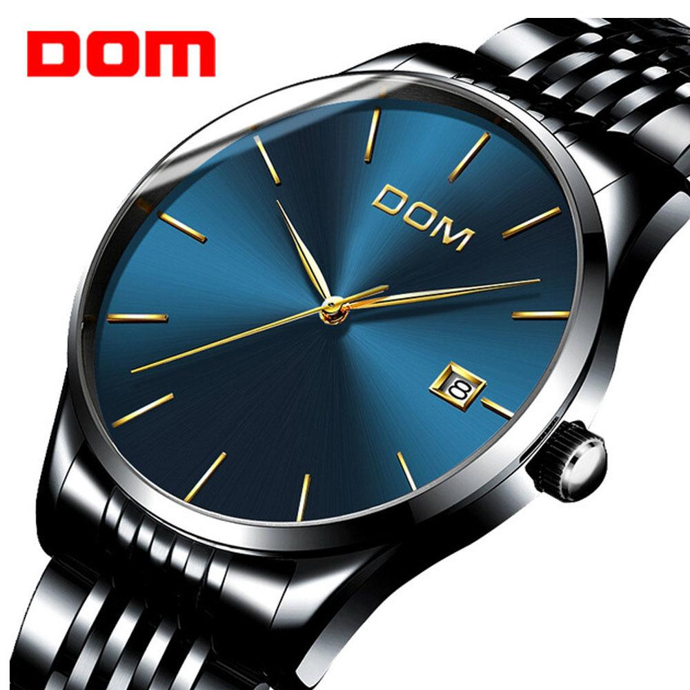 Watches 2019 Fashion Men Watch Business Mens Watch Mechanical Automatic Steel Ceramic Man Watch Dom Brand Wristwatches Waterproof Mens Clock