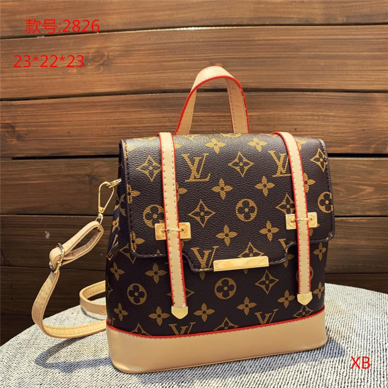 High Quality Printed Women Backpack Youth PU Backpacks for Teenage Girls Female School Shoulder Bag Bagpack Women 2826