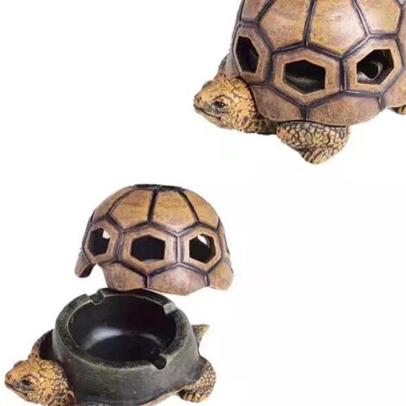 New Animal Tortoise Shape Cigarette Ashtrays Resin Decorate Innovative Design Easy Clean Portable High Quality Hot Cake