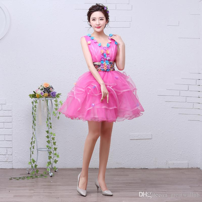 28721059b7 free ship short lolita alice cosplay hot pink ruffled fairy short ball gown  medieval dress Renaissance gown queen Victorian/Belle Ball