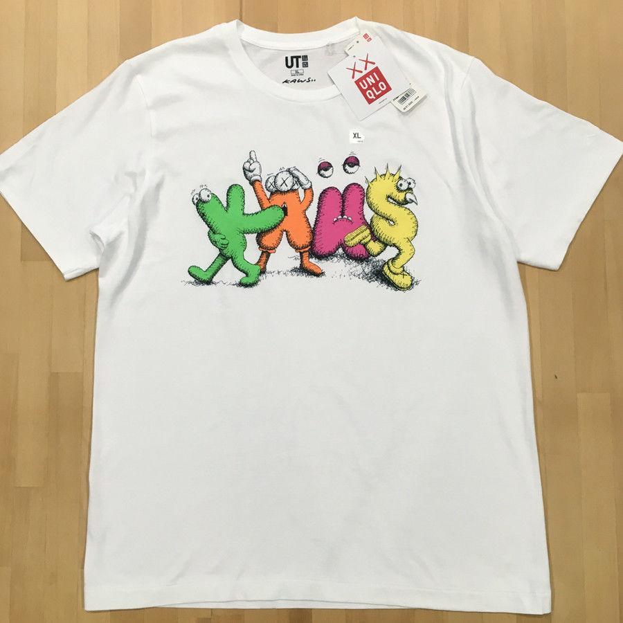 94255f66 KAWS X UNIQLO T SHIRT SIZE XL JAPAN EDITION Men Women Unisex Fashion Tshirt  Shirt Online Cartoon T Shirts From Designtshirts201809, $13.91| DHgate.Com