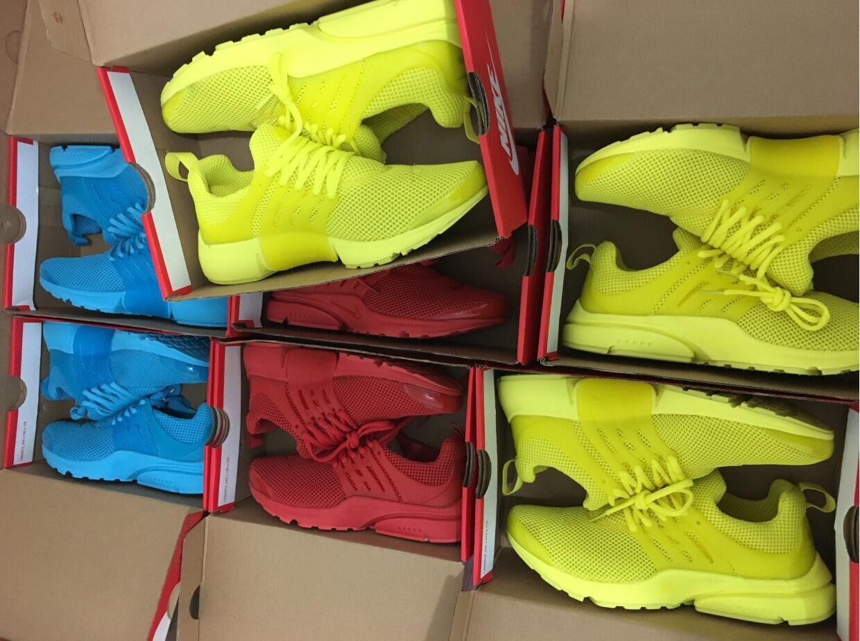 purchase cheap 93c12 b1f06 Presto BR QS Ultra Bright Yellow Mens Womens Running Shoes Essential Red  Grey Purple Prestos Trainers Designer Training Sneakers Size 5.5-12