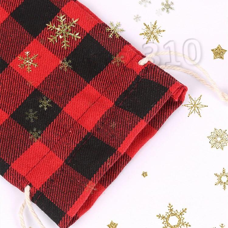 Sacos de presentes de Natal Sacos De Algodão Natural Vintage Saco de estriação Saco de doces para crianças bolsas de Festa De Casamento BagsT2I5669