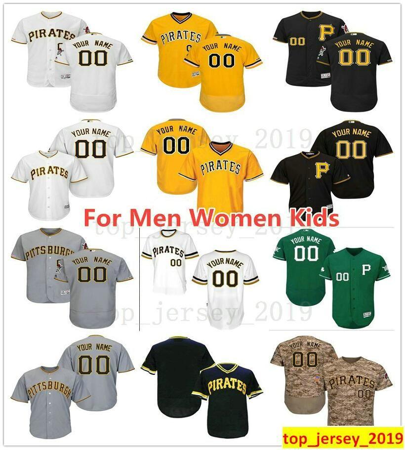 new product 8bbd7 38f2d Pittsburgh Custom Pirates 58 Jacob Stallings 50 Jameson Taillon 73 Felipe  Vazquez 34 Trevor Williams 8 Willie Stargell Jersey