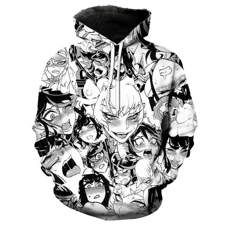 Hentai ahegao 3d anime capucha Sudadera hoody suéter Hoodie Jersey