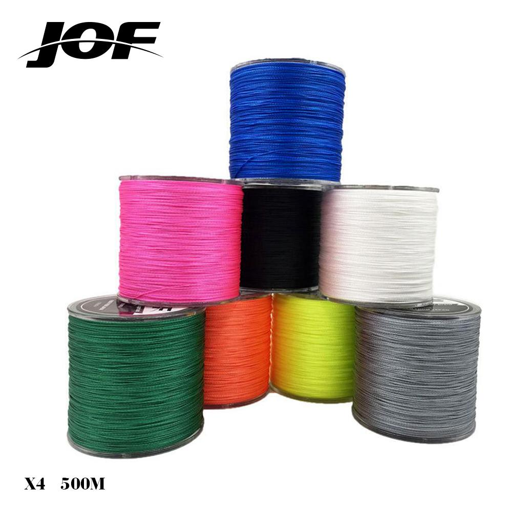 Brand 500M 4 Strand PE Multifilament Braided Fishing Cord Fishing Line Thread Wire for Sea 18-80lb