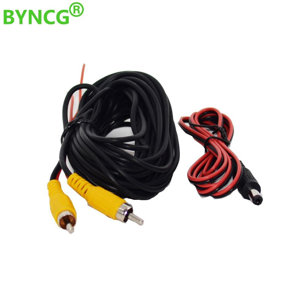 2019 New Wire Cable RCA Video Cable 10M for Rear View Camera 10 15 20M RCA Video Car Reverse Rear View Parking Camera