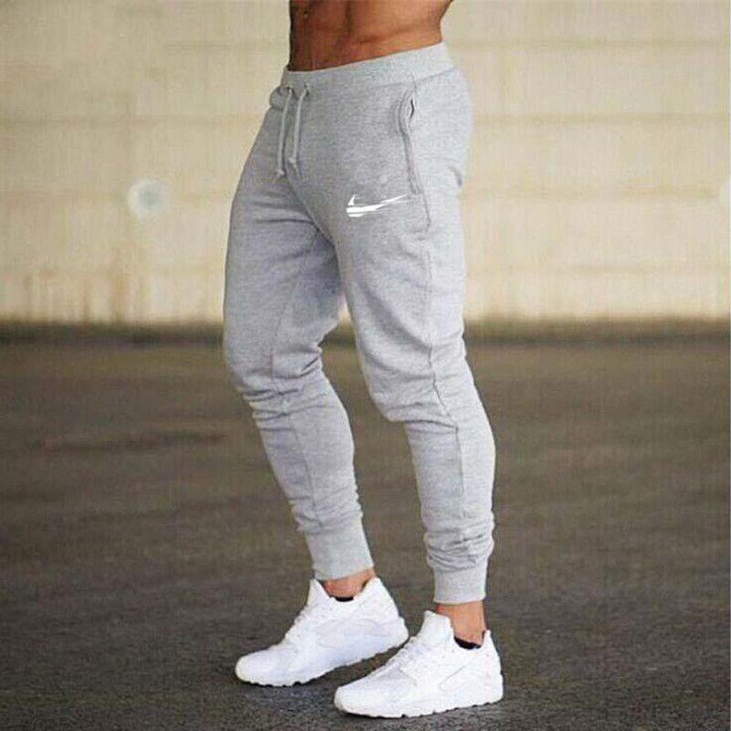 Acquista Moda Uomo Pantaloni Casual Pantaloni Uomo Allenamento Fitness  Pantaloni Hip Hop Cotone Grigio Nero Pantaloni Lunghi A  31.48 Dal  Blueberry11 ... 6dd308ee9bb7