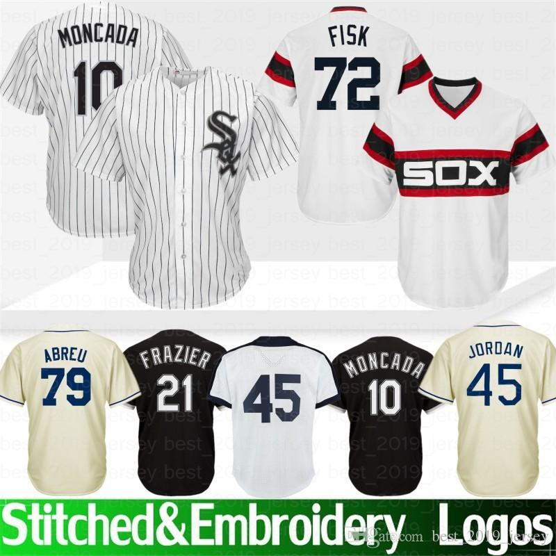 e2e2a90f 2019 Embroidery Chicago 45 Michael White Sox Jersey 8 Bo Jackson 72 Fisk 21  Todd Frazier 35 Frank Thomas 79 Jose Abreu 10 Yoan Moncada 2019 New From ...
