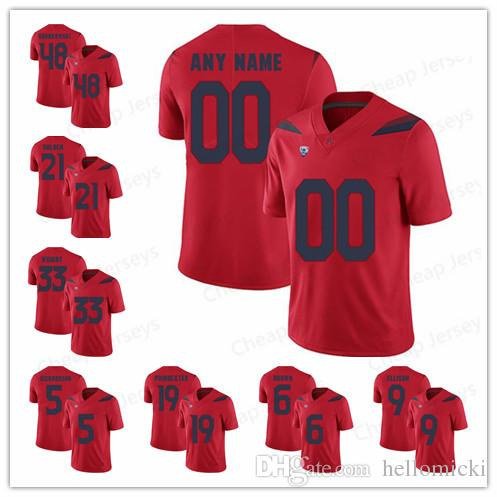 on sale 5d0e2 f4e08 Custom Mens Arizona Wildcats 48 Rob Gronkowski Jerseys 33 Nathan Tilford 33  Scooby Wright Player College Football stitched Jersey