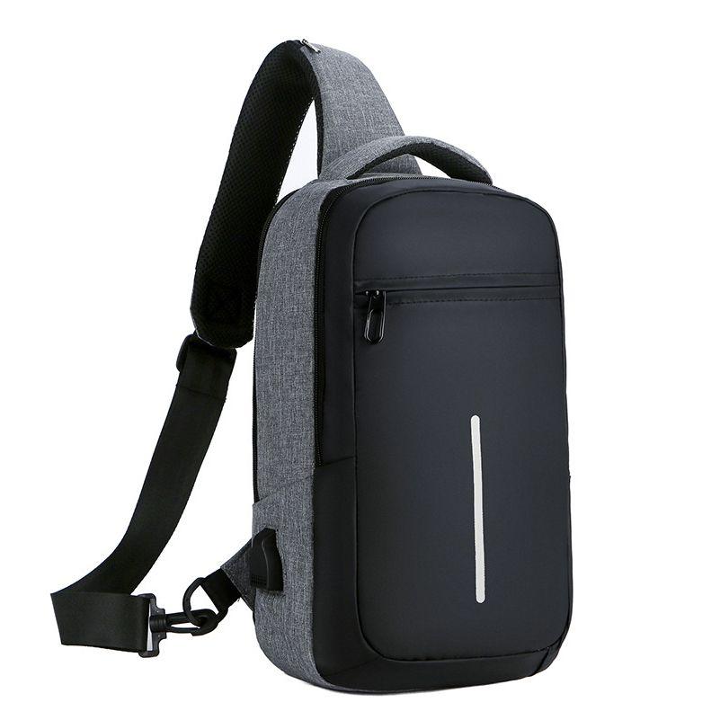 74cd55fd1 Compre Paquetes De Baúles Bolso Para Hombre Con Puerto De Carga USB Antirrobo  Bolso Bandolera Impermeable Escuela De Mensajero Resistente Al Desgaste A  ...