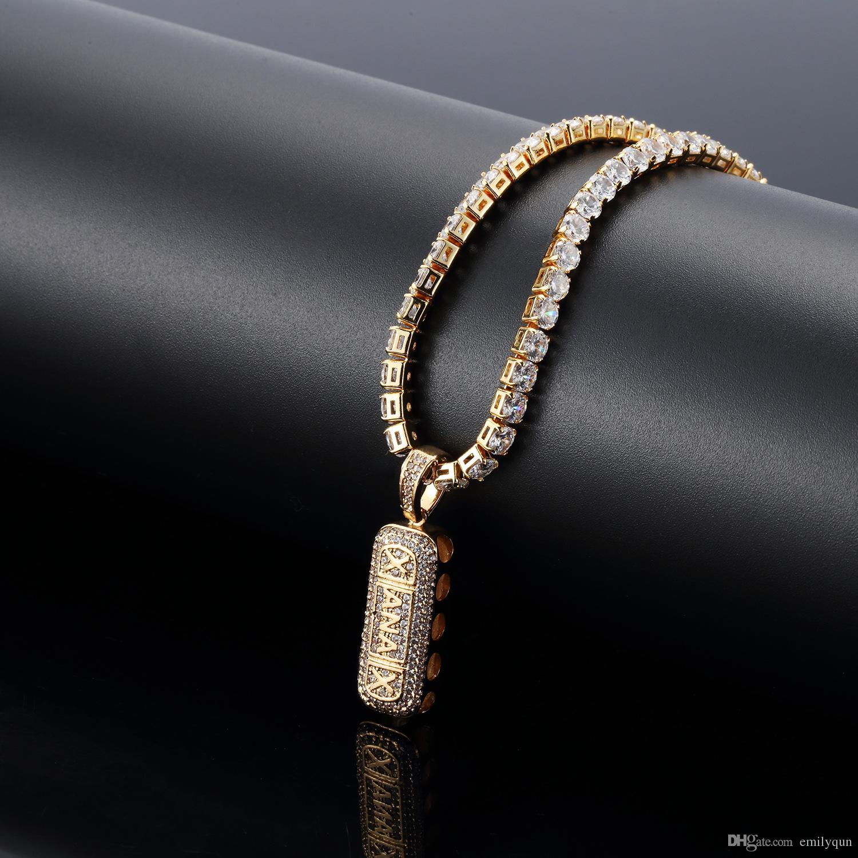 ba004e8c44d5 Compre Moda Hip Hop Collar Para Hombre Mujer Largo Chapado En Oro 18K  Collares Cadena Con Diamante Hombres Joyería Hombres Oro Plata Colgantes  Cadenas A ...