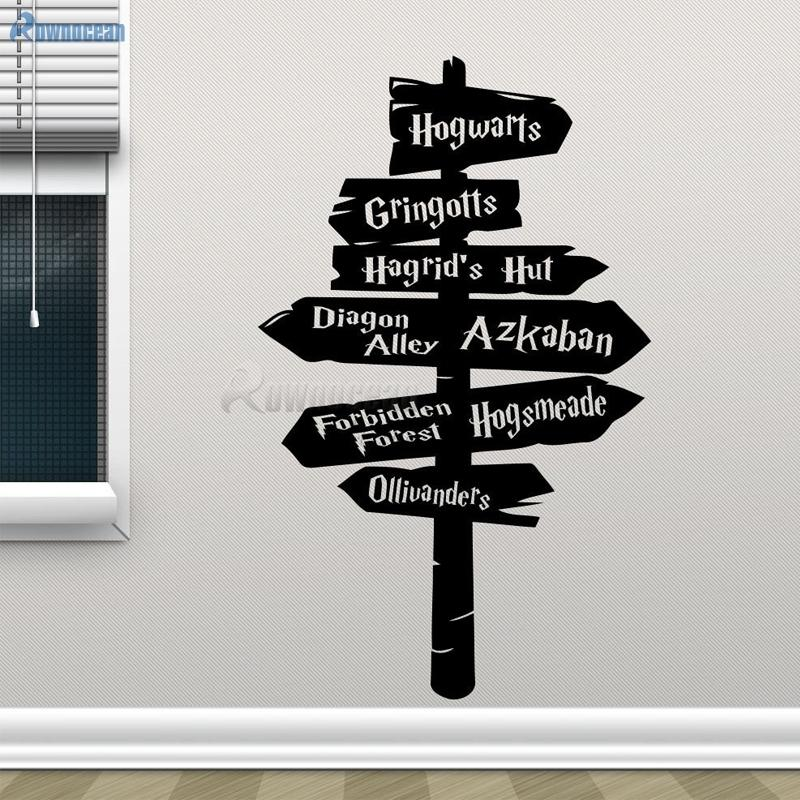 harry potter wall decal hogwarts road sign vinyl sticker home movie