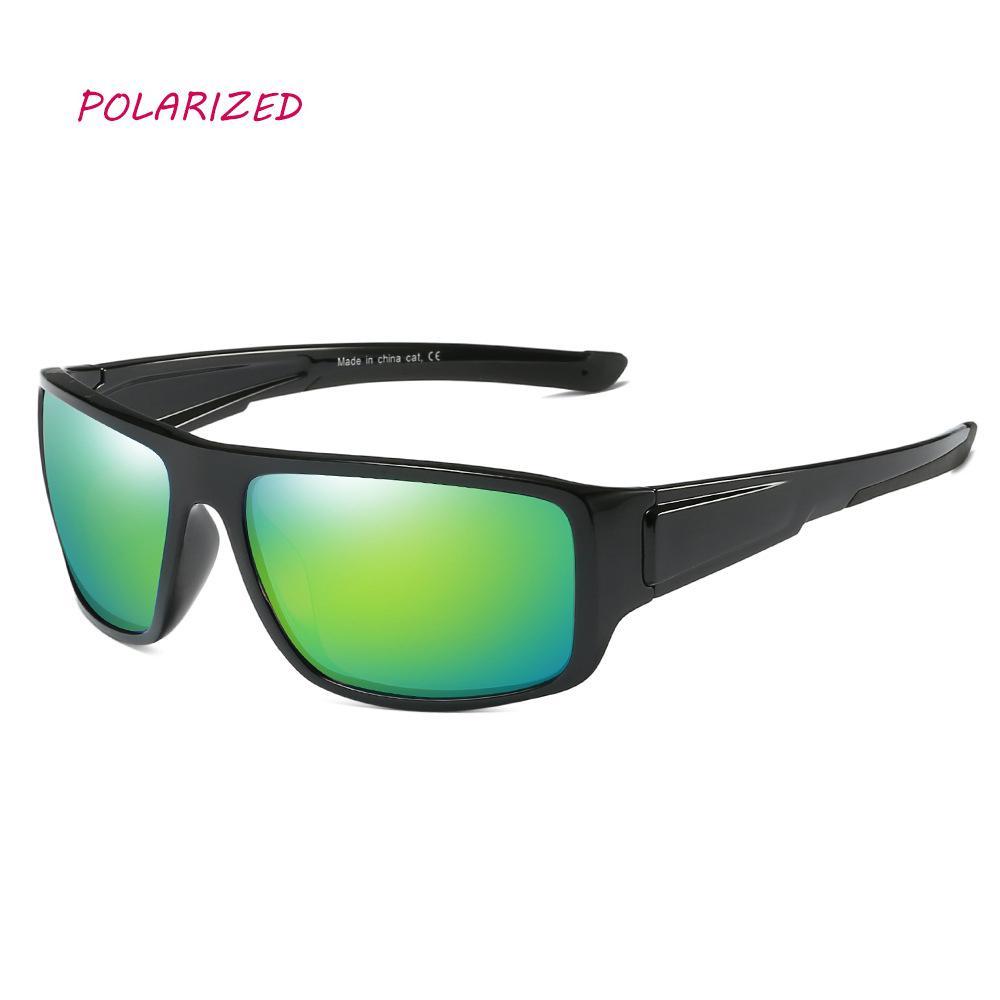 147a7162ae Compre 2018 Nuevo Verde Gafas De Sol Polarizadas Hombres Moda Hombre  Deporte Recubrimiento Pesca Conducción Gafas Gafas De Sol UV400 Gafas De Sol  De Viaje A ...