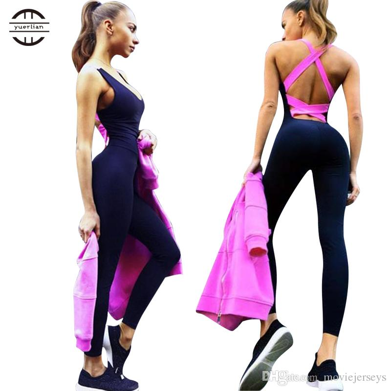 Yuerlian Quick Dry sportswear Gym Leggings Female T-shirt Costume Fitness Tights Sport Suit Green sexy Top Yoga Set Women's Tracksuit