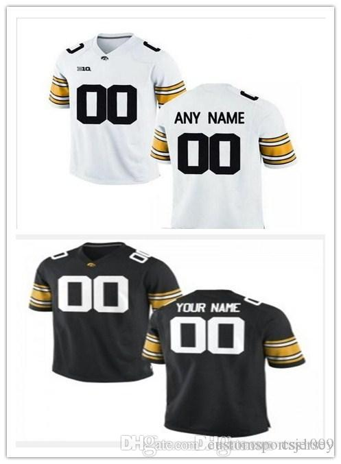 a530a9213 2019 Custom Iowa Hawkeyes College Football Jersey Mens Limited White Black  Personalized Stitched Any Name Any Number Jerseys XS 5XL From  Customsportsjersey