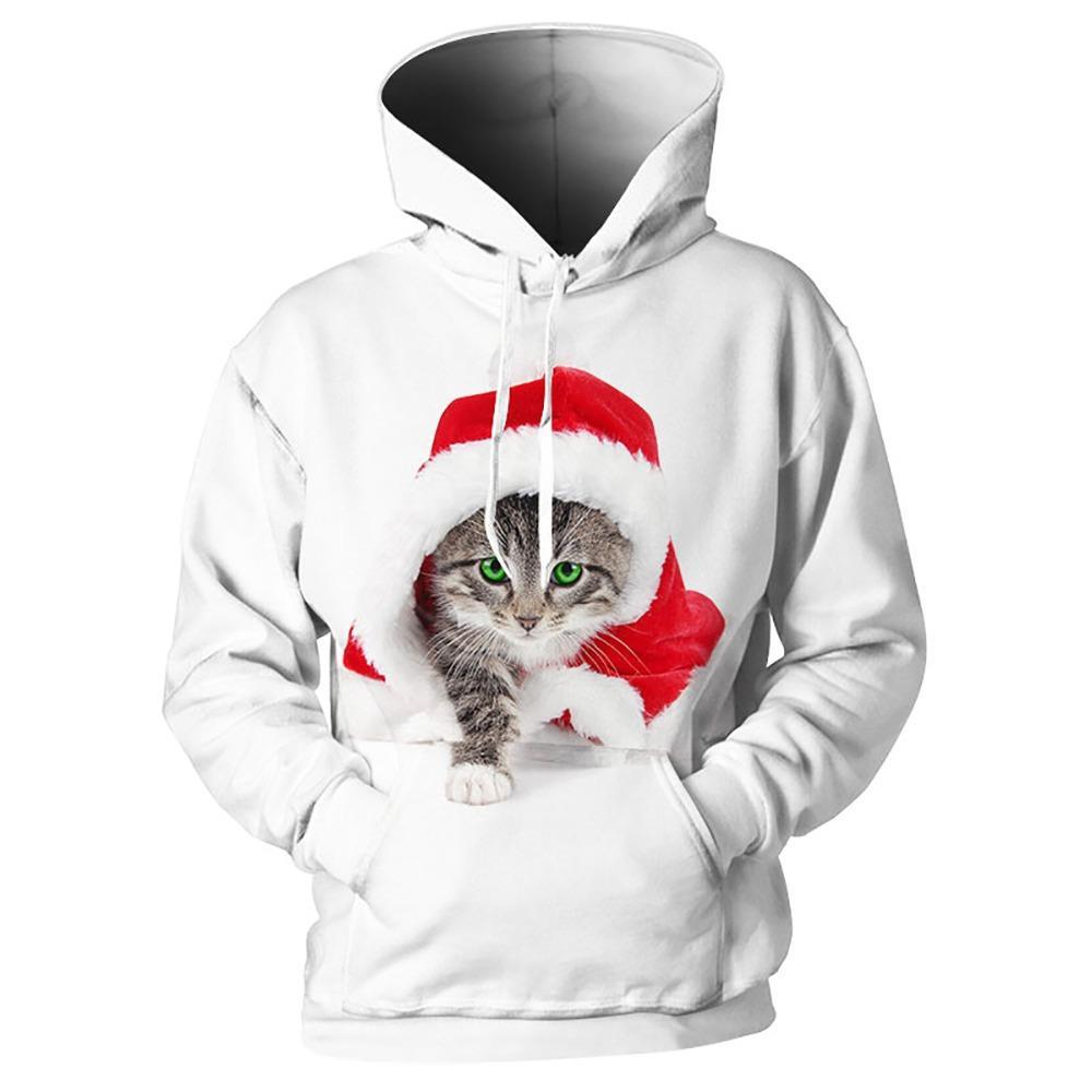 4b584aff1808 2019 Cloudstye Men 3D Hoodies Animal Cat Kitty Kitten Printed Funny  Pullovers Christmas Design Tracksuit Long Sleeve Brand Sweatshirt From  Maoku