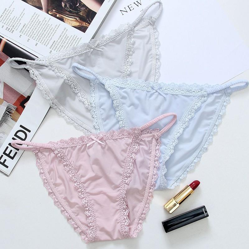 7d42df0bcce EU Style Panties Seamless Milk Silk Briefs Low Rise Sexy Lace ...