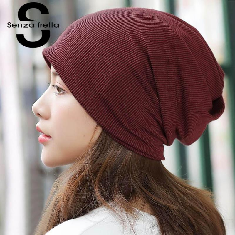 d7cb1404 Senza Fretta Spring Winter Women Beanies Hat Casual Slouchy Beanie Fashion  Girls Knitted Hedging Hat Warm Scarf For Female Winter Hat Cool Hats From  ...