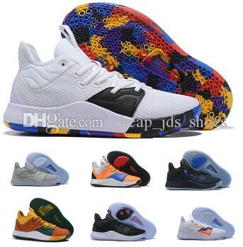 sports shoes 0c496 69419 Basketball Shoes Sneakers Paul George PG 3 3s Mens 2019 Nasa BHM Volt  History Month Armstrong Building 703 Special New Man Sports Shoes