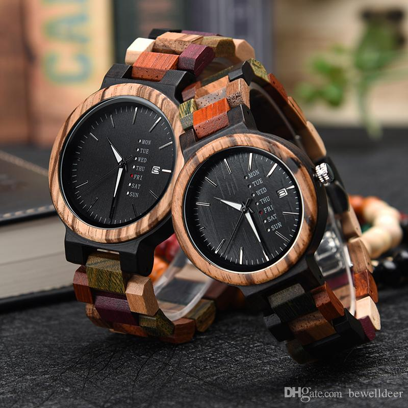 bd60e68c4 Be Well Anolog Couple Set Colorful Wooden Watch Custom Men Women Watches  Gift In Present Cases Best Watches In The World Best Wrist Watches From  Bewelldeer