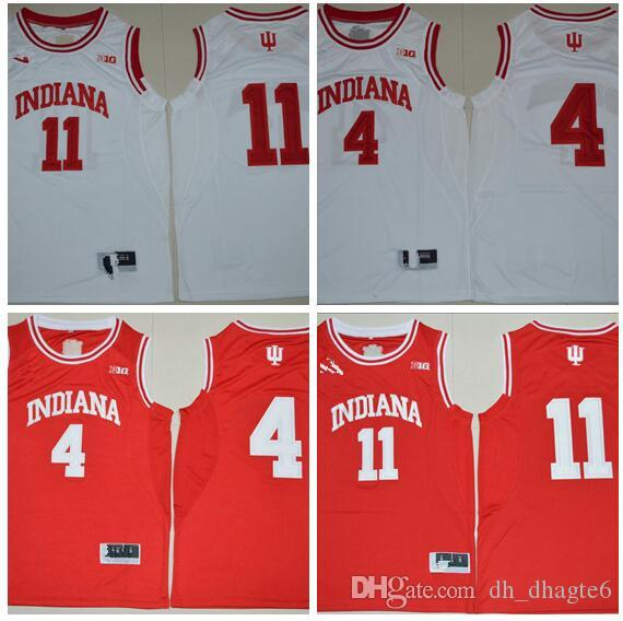 super popular 9114b 8598d NCAA Indiana Hoosiers 4 Oladipo 11 Yogi Ferrell Colégio Basquete Jersey -  Vermelho Branco S-2XL