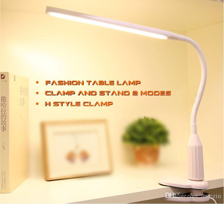 1 Stepless Dimmable Sensitive Mode Pince De Eye Touch Et Care 5w Support Col Flexible Light Visuel Cygne Flash Lampe Bureau Pas 2 En nk8PO0w